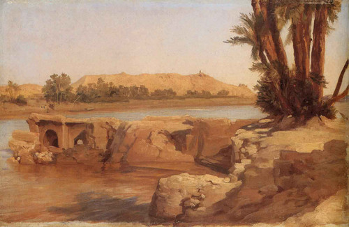 Nile Landscape By Sir Frederic Lord Leighton