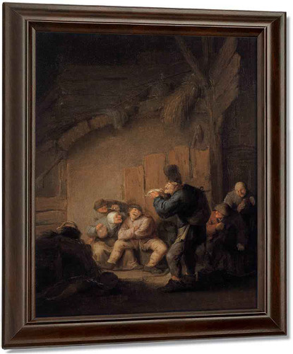 A Comedian Reading In A Tavern By Adriaen Van Ostade