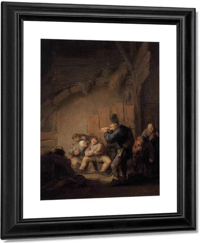 A Comedian Reading In A Tavern By Adriaen Van Ostade By Adriaen Van Ostade