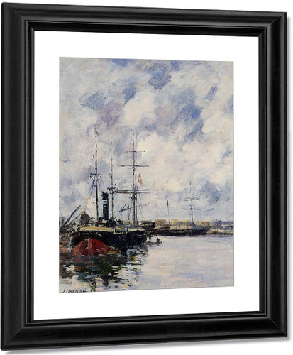 A Corner Of The Deauville Basin By Eugene Louis Boudin
