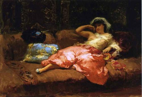 Odalisque By Frederick Arthur Bridgman