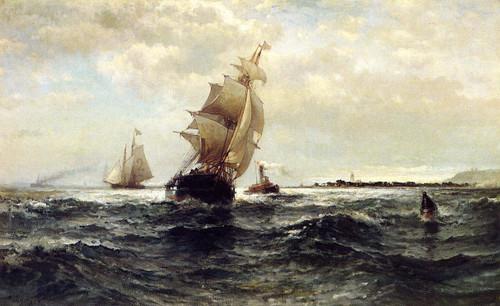 Off Atlantic Highlands By Edward Moran