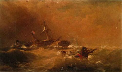 Off Sandy Hook By Edward Moran