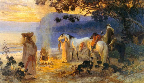 On The Coast Of Kabylie By Frederick Arthur Bridgman