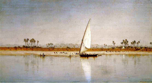 On The Nile By Sanford Robinson Gifford