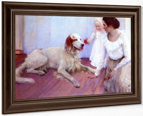 On The Porch By Charles Courtney Curran By Charles Courtney Curran