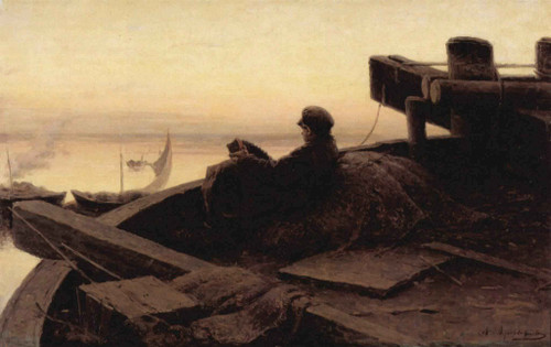 On The Volga By Abram Efimovich Arkhipov