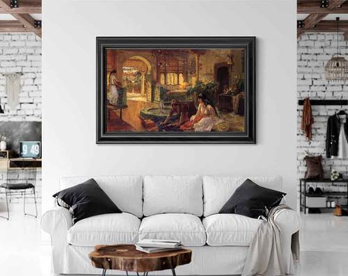 Orientalist Interior By Frederick Arthur Bridgman