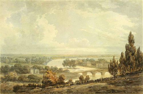 Panoramic View Of The Thames By Joseph Mallord William Turner