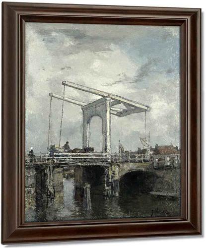 A Drawbridge In A Dutch Town1 By Jacob Henricus Maris