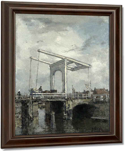 A Drawbridge In A Dutch Town By Jacob Henricus Maris