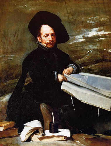 A Dwarf Holding A Tome In His Lap By Diego Velazquez