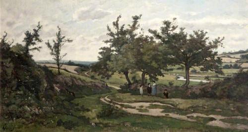 Paysage By Henri Joseph Harpignies, Aka Henri Harpignies