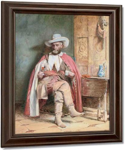 A Festive Offering By George Goodwin Kilburne