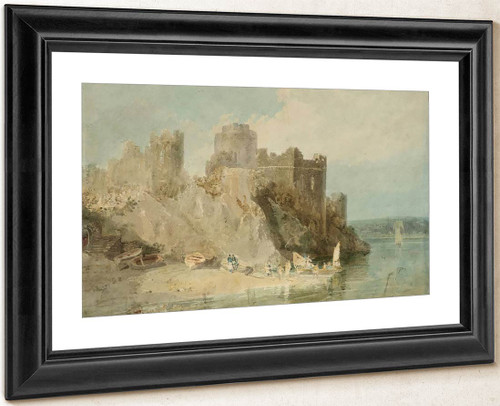 Pembroke Castle From The River, With Figures And Boats By Joseph Mallord William Turner