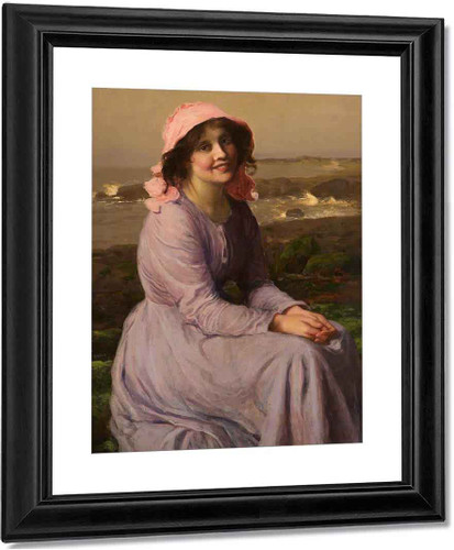 A Fisherman's Daughter By Thomas Edwin Mostyn Art Reproduction