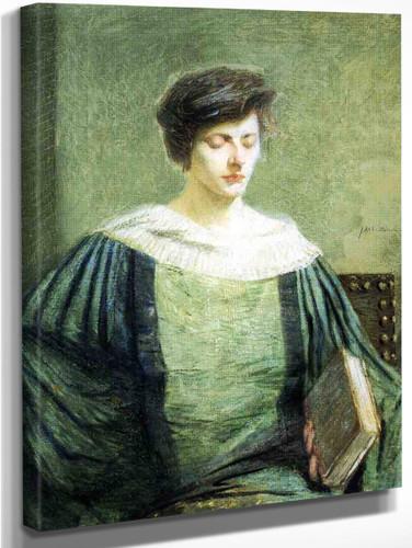 A Follower Of Groliier By Julian Alden Weir American 1852 1919