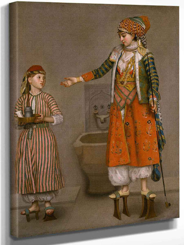 A Frankish Woman And Her Servant By Jean Etienne Liotard