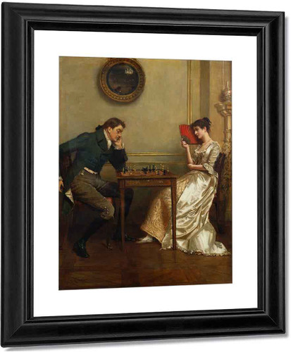 A Game Of Chess By George Goodwin Kilburne By George Goodwin Kilburne