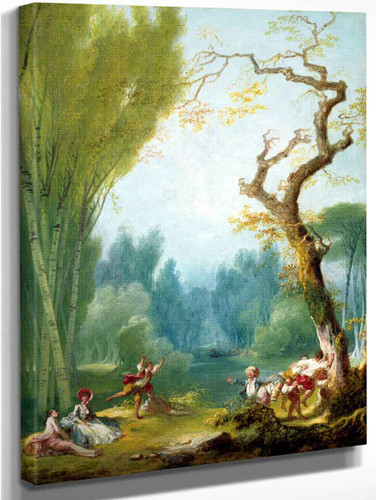 A Game Of Horse And Rider By Jean Honore Fragonard