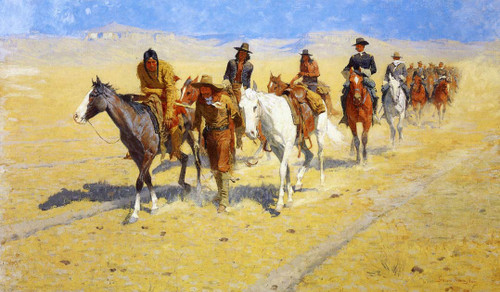 Pony Tracks In The Buffalo Trails By Frederic Remington