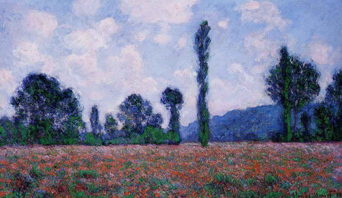 Poppy Field, Giverny By Claude Oscar Monet
