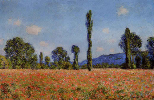 Poppy Field By Claude Oscar Monet