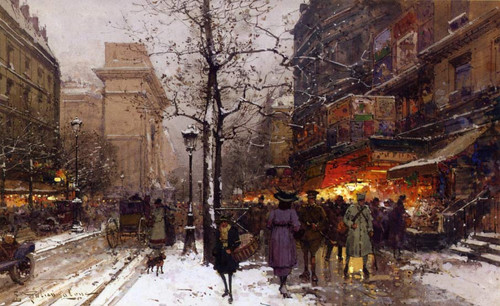 Porte Saint Denis By Eugene Galien Laloue
