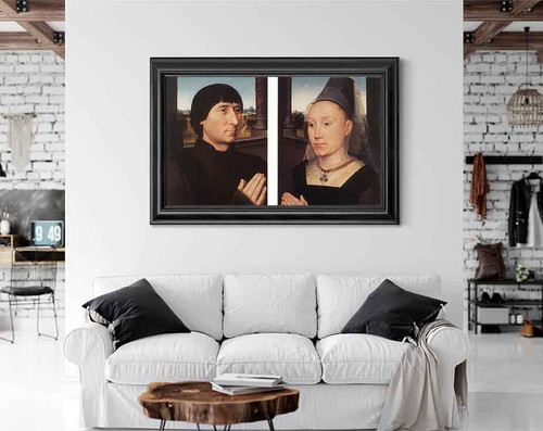 Portraits Of Willem Moreel And His Wife By Hans Memling