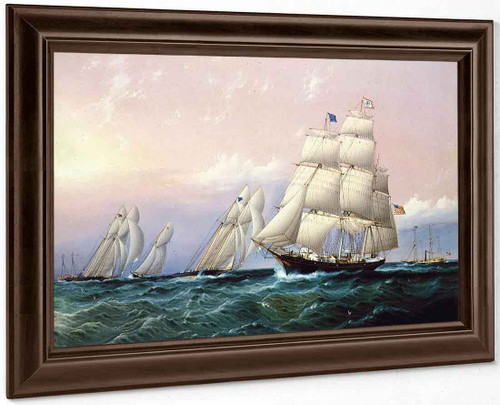 Racing Off Sandy Hook By James E. Buttersworth
