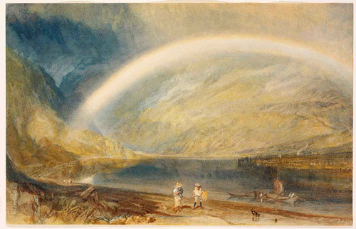 Rainbow. A View On The Rhine By Joseph Mallord William Turner