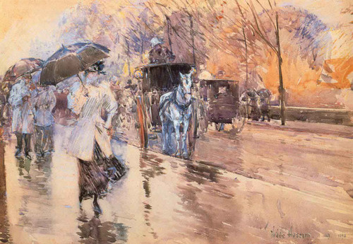Rainy Day On Fifth Avenue By Frederick Childe Hassam