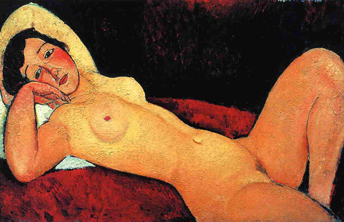 Reclining Nude1 By Amedeo Modigliani