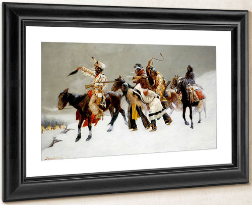 Return Of A Blackfoot War Party By Frederic Remington