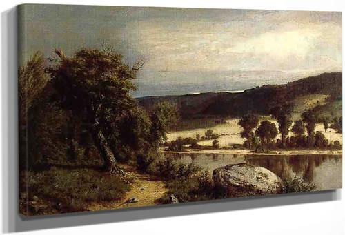 River Landscape By Alexander Helwig Wyant
