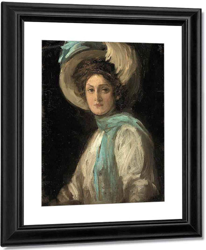 A Lady In Blue And White By Sir John Lavery, R.A. By Sir John Lavery, R.A.