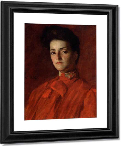 A Lady In Red 2 By William Merritt Chase