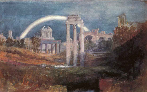 Rome The Forum With A Rainbow By Joseph Mallord William Turner