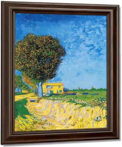 A Lane Near Arles By Vincent Van Gogh