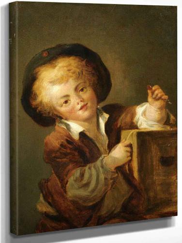 A Little Boy With A Curiosity By Jean Honore Fragonard