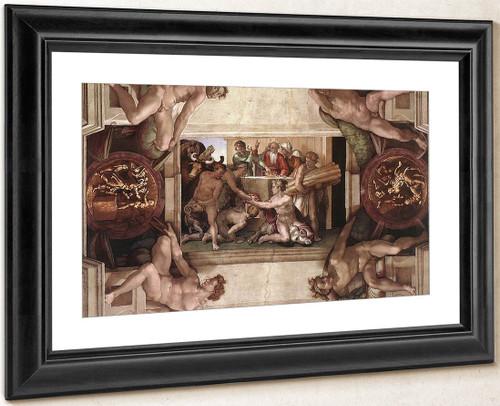 Sacrifice Of Noah By Michelangelo Buonarroti By Michelangelo Buonarroti