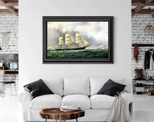 Sailing Near Sandy Hook By James E. Buttersworth