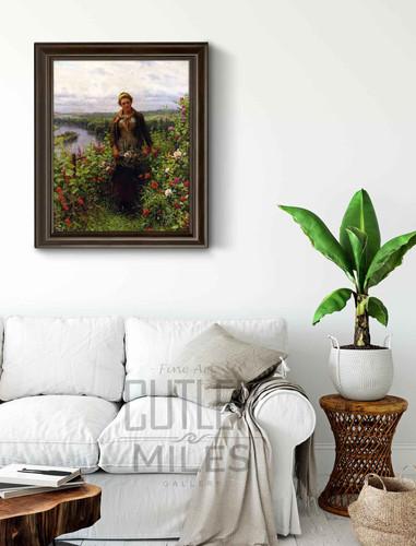 A Maid In Her Garden By Daniel Ridgway Knight By Daniel Ridgway Knight