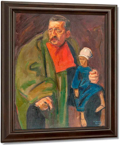A Man And A Puppet By Akseli Gallen Kallela