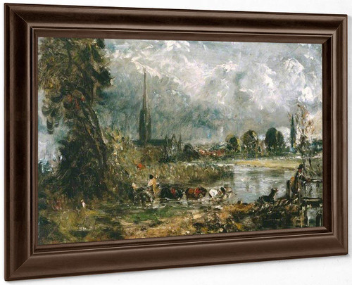 Salisbury Cathedral From The Meadows By John Constable By John Constable