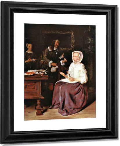A Man Offering A Glass Of Wine To A Woman1 By Gabriel Metsu