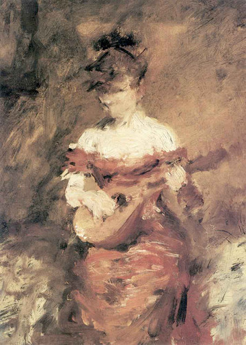 A Mandolin Player By William Merritt Chase