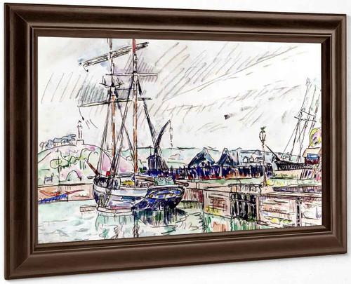 Schooner At Dock, Paimpol By Paul Signac