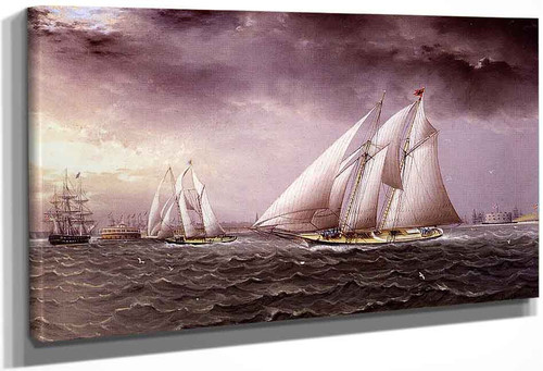Schooner In Stormy Seas1 By James E. Buttersworth