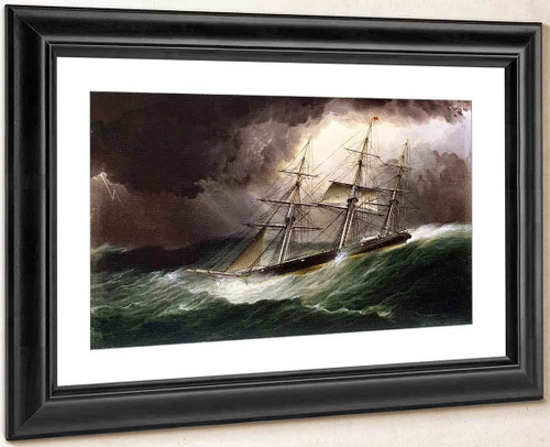 Schooner In Stormy Seas By James E. Buttersworth